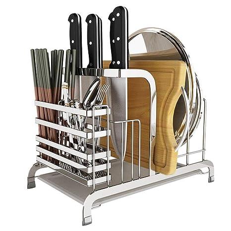 KNFBOK cuchillos cocina Portacuchillas de acero inoxidable ...