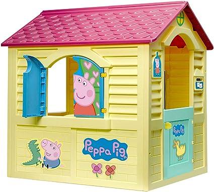 Chicos - Peppa Pig Casita Infantil de Exterior, Color Amarilla con ...