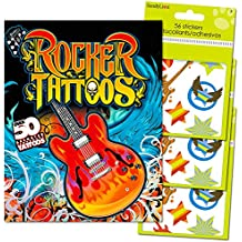 Rock Star Stickers and Tattoos Party Favors Pack (Over 150 Rocker Stickers and 50 Rocker Temporary Tattoos)