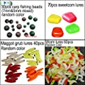 JSHANMEI Carp Fishing Tackle Box Artificial Plastic Fake Baits Sweetcorn/Beads/Worm Lures Imitation Baits Carp Fishing Gear Kit