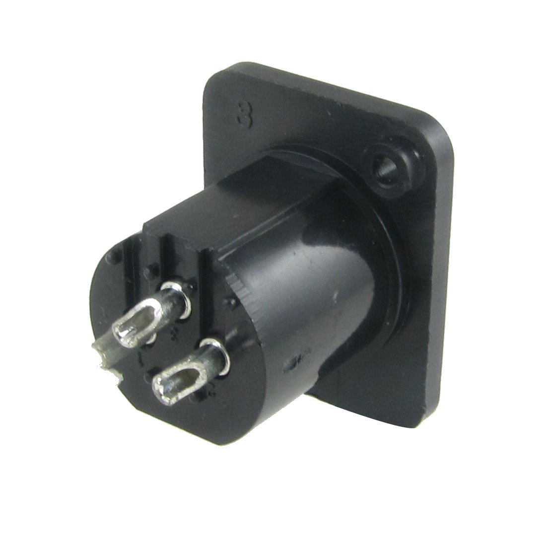 uxcell Microphone XLR 3-Pin Male Adapter Rectangle Panel Socket Connector