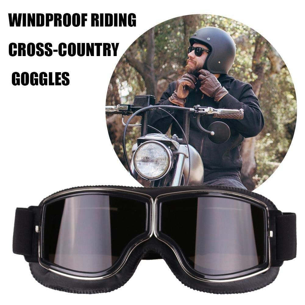 Gafas de moto Gafas de motocicleta vintage Gafas de motocicleta HD-Motociclista de motocicleta Harley Gafas de motocicleta UV Gafas de sol de ciclismo Gafas de bicicleta de snowboard Cool Snowboard a