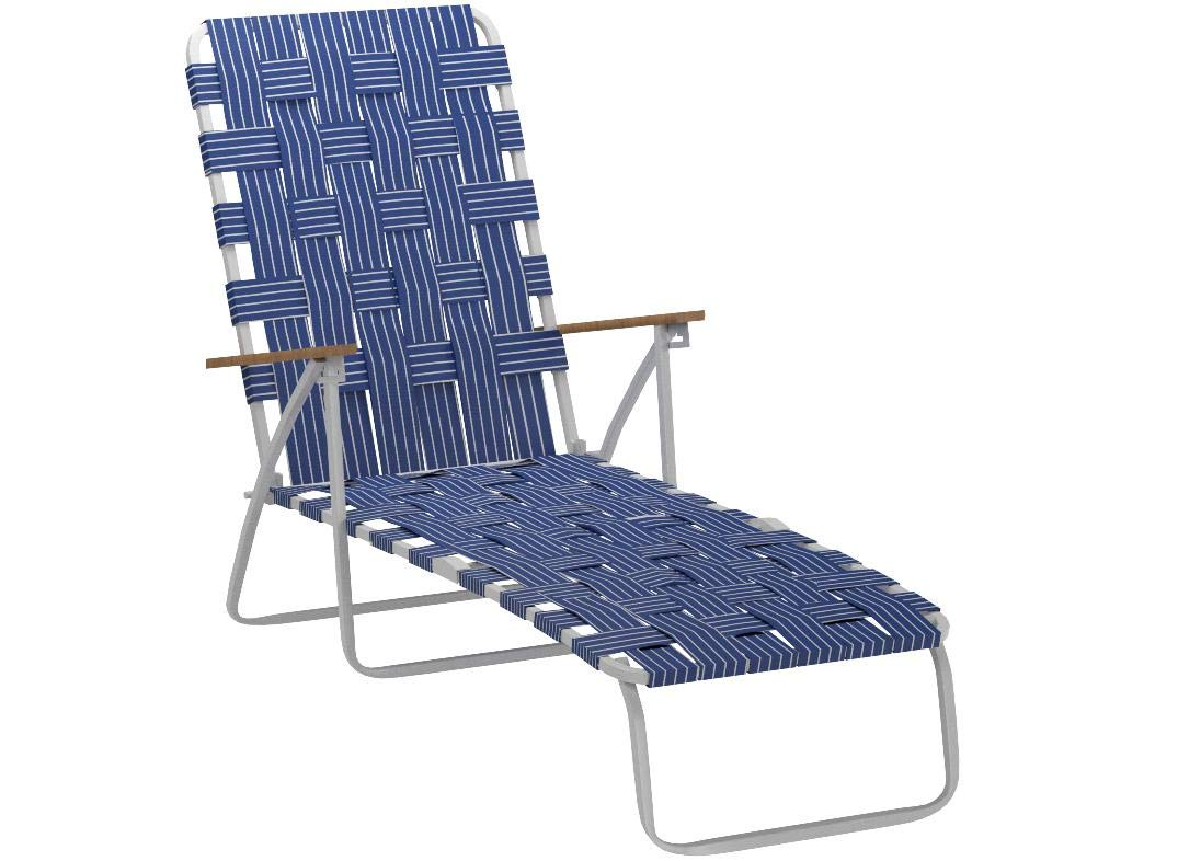 Rio Brands BY405-0138 Hi Back Web Chaise, Blue by RIO Gear