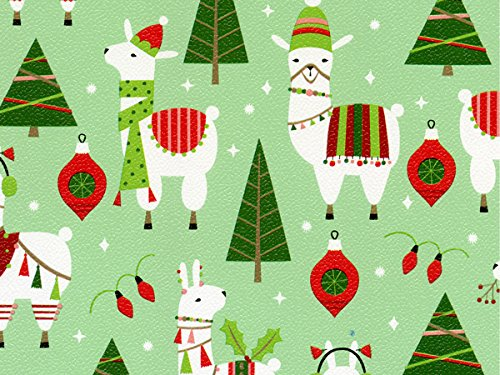 Pack of 1, Dolly Llama 30'' x 417' Half Ream Roll Gift Wrap for Holiday, Party, Kids' Birthday, Wedding & Special Occasion Packaging by Generic
