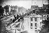 24x36 Poster; Boulevard Du Temple, Paris, 3Rd Arrondissement, Daguerreotype. Believed To Be The Earliest Photograph Showing A Living Person 1838