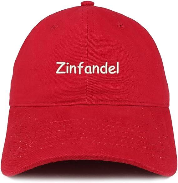 Trendy Apparel Shop Zinfandel Embroidered 100% Cotton Adjustable Cap Dad Hat