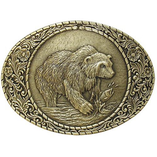 Grizzly Bear Belt Buckle OBM107 IMC-Retail - Bear Buckle