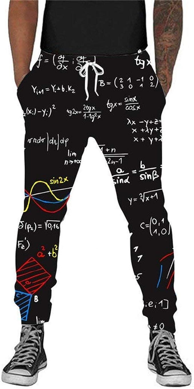 HaiDean Fórmula Matemática 3D Funny Hombres Joggers Pants Hombres ...