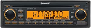 VDO Continental CD7416UB-OR European Style 12v Radio Orange Display Bluetooth & CD Player