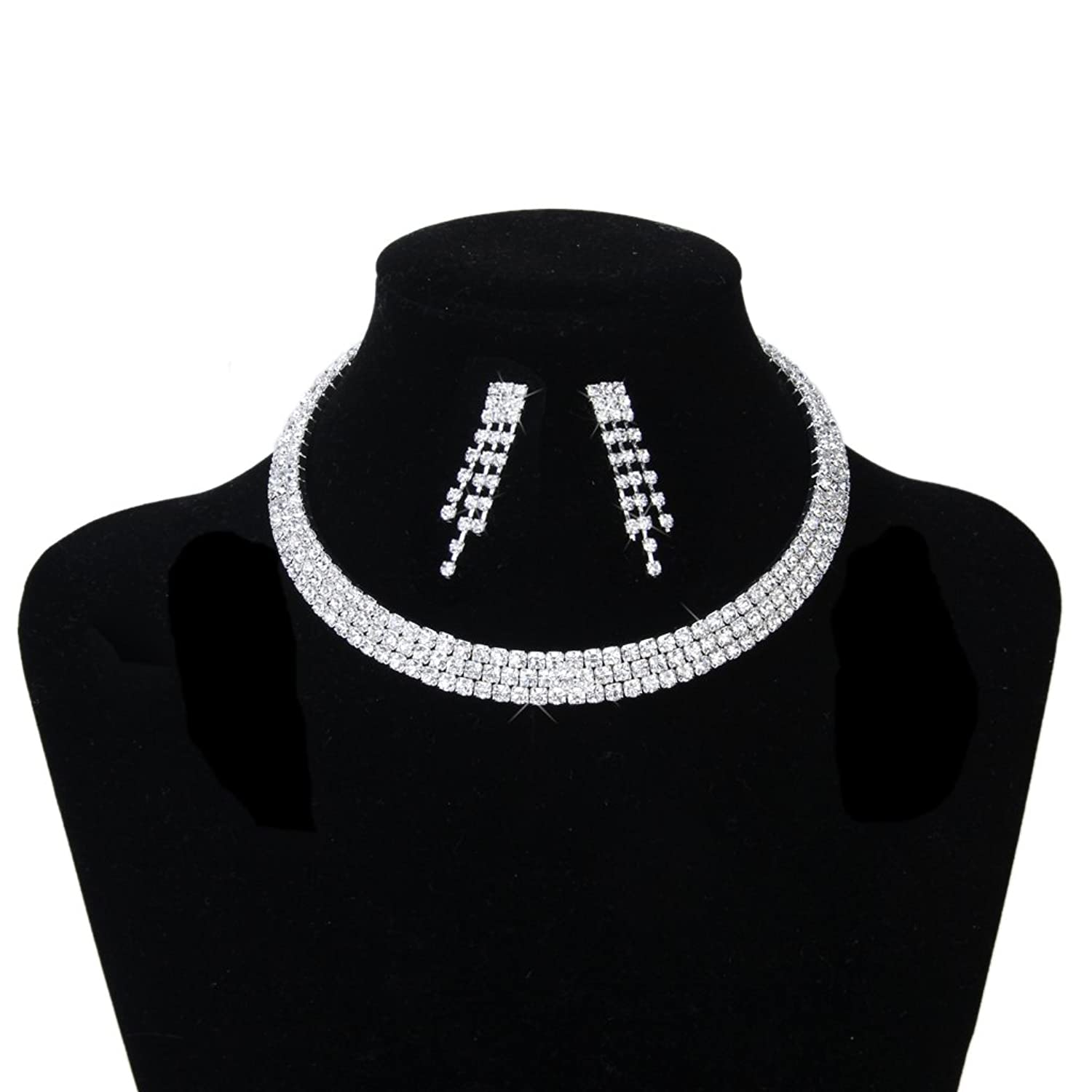 necklace style product pendant limits choker rhinestone