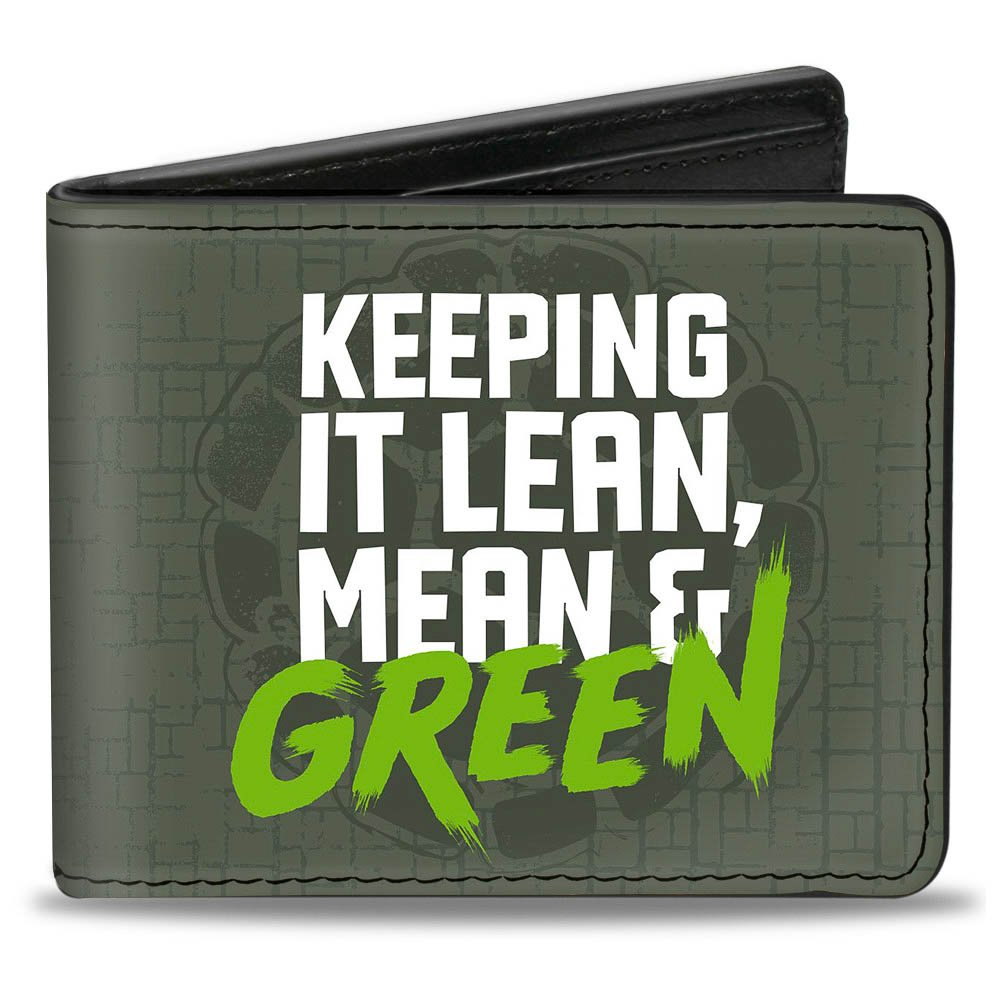 Buckle-Down Mens Standard Wallet Keep It Lean, Mean and Green + Classic Teenage Mutant N, Multi, One Size