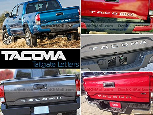 Toyota Tacoma 2016 2017 Rear Tailgate Letter Insert Not Decals - Chrome (Tail Decal)