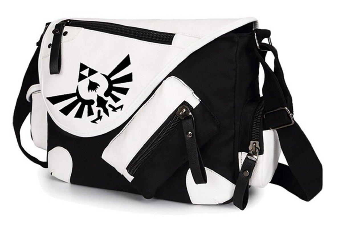 YOYOSHome Anime The Legend of Zelda Cosplay Handbag Messenger Bag Shoulder Bag School Bag (Black 1)