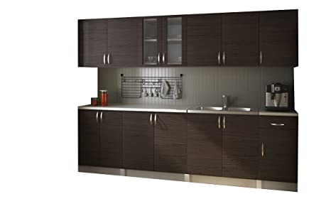 vidaXL Cucina componibile 2.6m mobili da Cucina Marrone Scuro ...