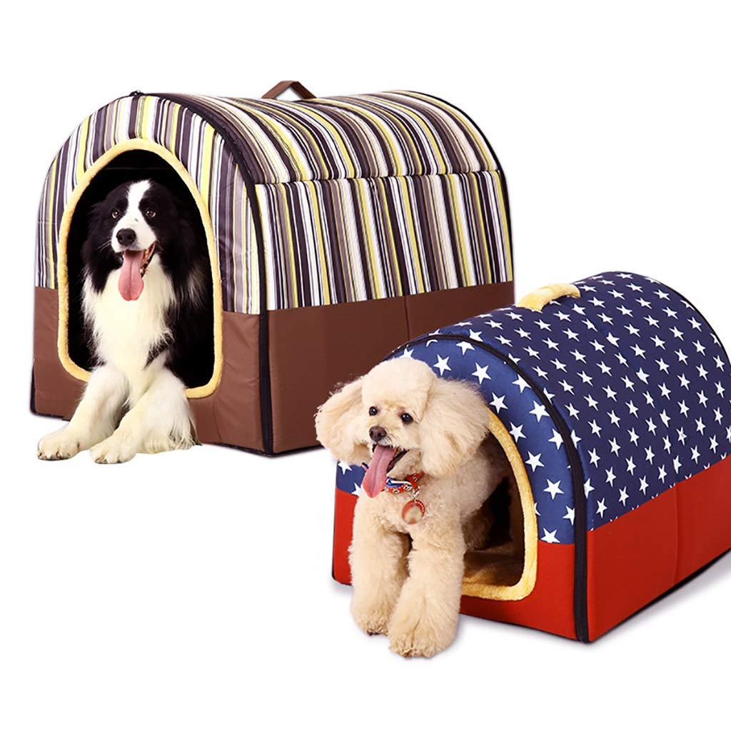 NUAN Pet house kennel in the large dog foldable removable dog kennel pet room pet mat pet bed pet supplies universal year-round