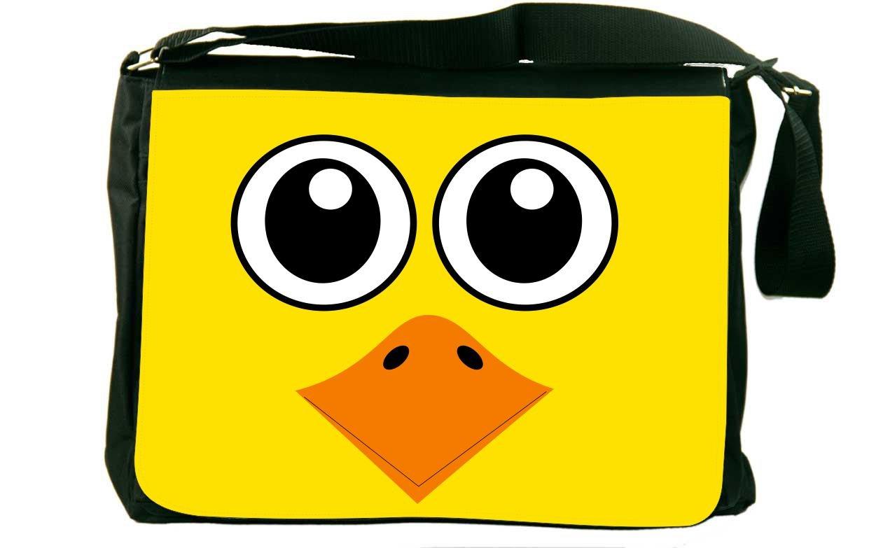 Rikki Knight Duck Cartoon Faceメッセンジャーバッグスクールバッグ B01IJ9DOQK