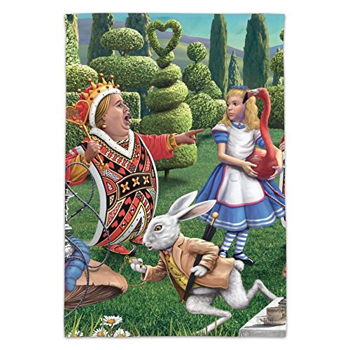 Graphics and More Alice in Wonderland Garden Party Garden Yard Flag (Pole Not Included)