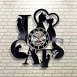Jedfild The lovely art wall clock 7 Small Black Cat