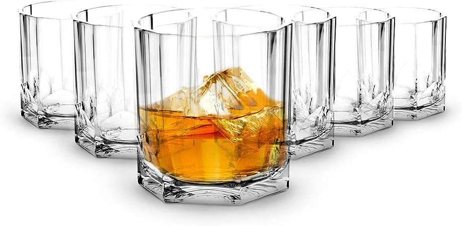 RB Vasos de Whisky Plástico Premium Irrompible Reutilizable 35cl, Set de 6: Amazon.es: Hogar