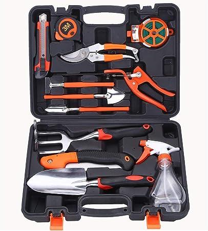 SJGDJ TOOLBOX Caja de Herramientas de Destornilladores de precisión, Herramientas de jardín 12 Set de Regalo, combinación de Herramientas de jardinería, Aluminio Pala de jardín: Amazon.es: Hogar