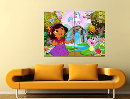 Amazon Com Dora The Explorer Unicorn Tv Series 47x35 Huge Giant