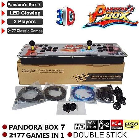 Amazon.es: Consola de Juegos 3D Pandora Key 7 Arcade, 1080 Full HD 4 Jugadores MAX Arcade Machine con 2177 Juegos Retro, Soporte de Tarjeta TF Extendida y Disco USB, Controles de Juego de 2 Jugadores