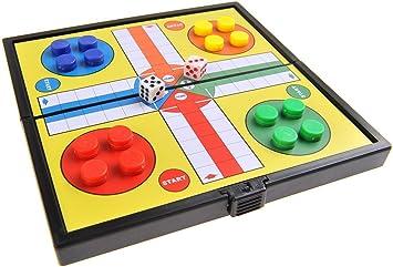 Quantum Abacus Juego de Mesa magnético (versión Super Mini de Viaje): Ludo - Piezas magnéticas, Tablero Plegable, 12,8cm x 12,8cm x 1cm, Mod. SC3624 (DE): Amazon.es: Juguetes y juegos