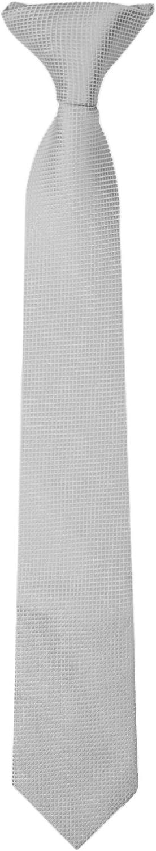 Jacob Alexander Boys Woven Subtle Mini Squares Clip-On Neck Tie Silver