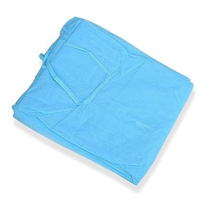 Bata quirúrgica desechable Polvo fino y liviano Ropa azul Delantales únicos Ropa médica Ropa para sala blanca (azul)(Togames-ES): Amazon.es: Industria, empresas y ciencia