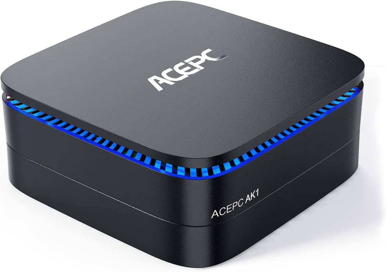 "ACEPC AK1 Mini PC,8GB RAM+256GB ROM,Intel Celeron J3455,Windows 10 Pro 4K Mini Ordenador Computer,Apoyo 2.5"" SATA SSD/HDD/4K/Dual WiFi 2.4G+5G/Bluetooth 4.2/USB 3.0"