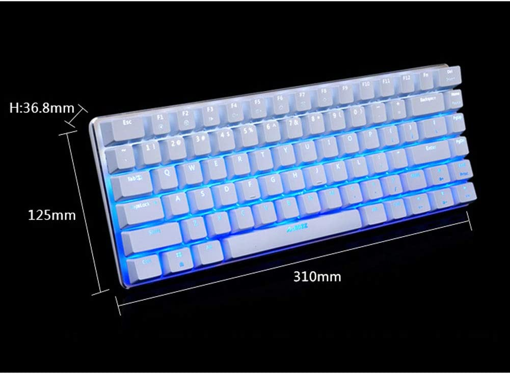 DZSF 82 Key Gaming Mechanical Keyboard Layout Backlight USB Wired Anti-Ghosting Black Switch Pc Gamer,D