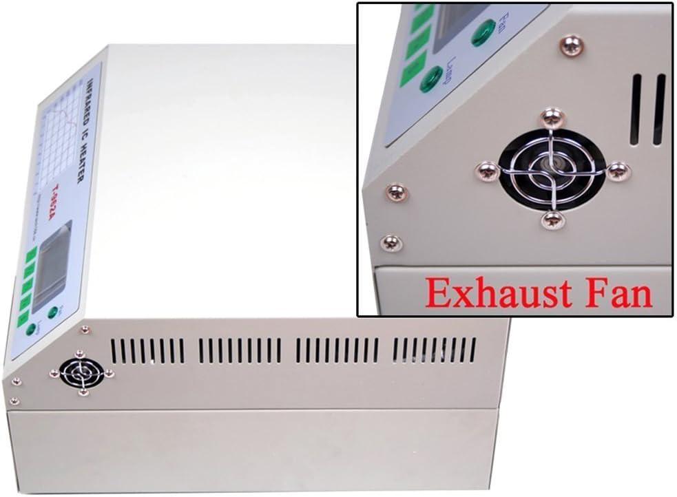 chaneau t962 a Reflow Oven soldador infrarrojo Reflow horno IC BGA SMD Reflow infrarrojos: Amazon.es: Bricolaje y herramientas