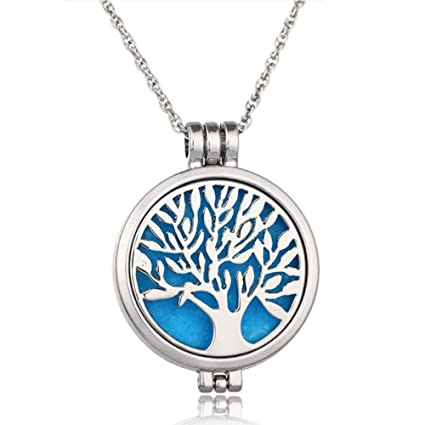 Amazoncom Wish House Tree Of Life Necklace Aromatherapy Essential