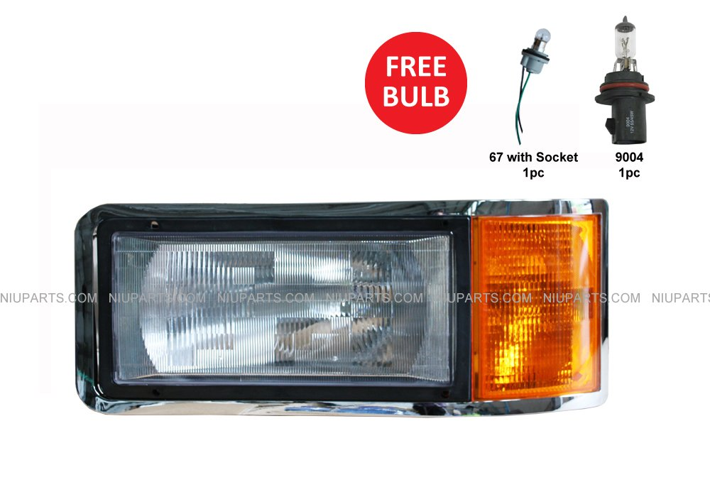 Headlight Driver Side (Fit: Mack CH600 CL600 CH612 CL700 CH613(1998-1999))