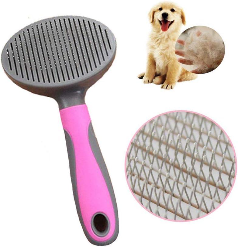 Amasawa Peine para Mascotas,Peine Perro, Peine de Gato,Cepillo Mascotas, Peine de Limpieza de Mascotas para Limpiar Mascotas Pequeño,Medianas y Grandes,Aguja Fina
