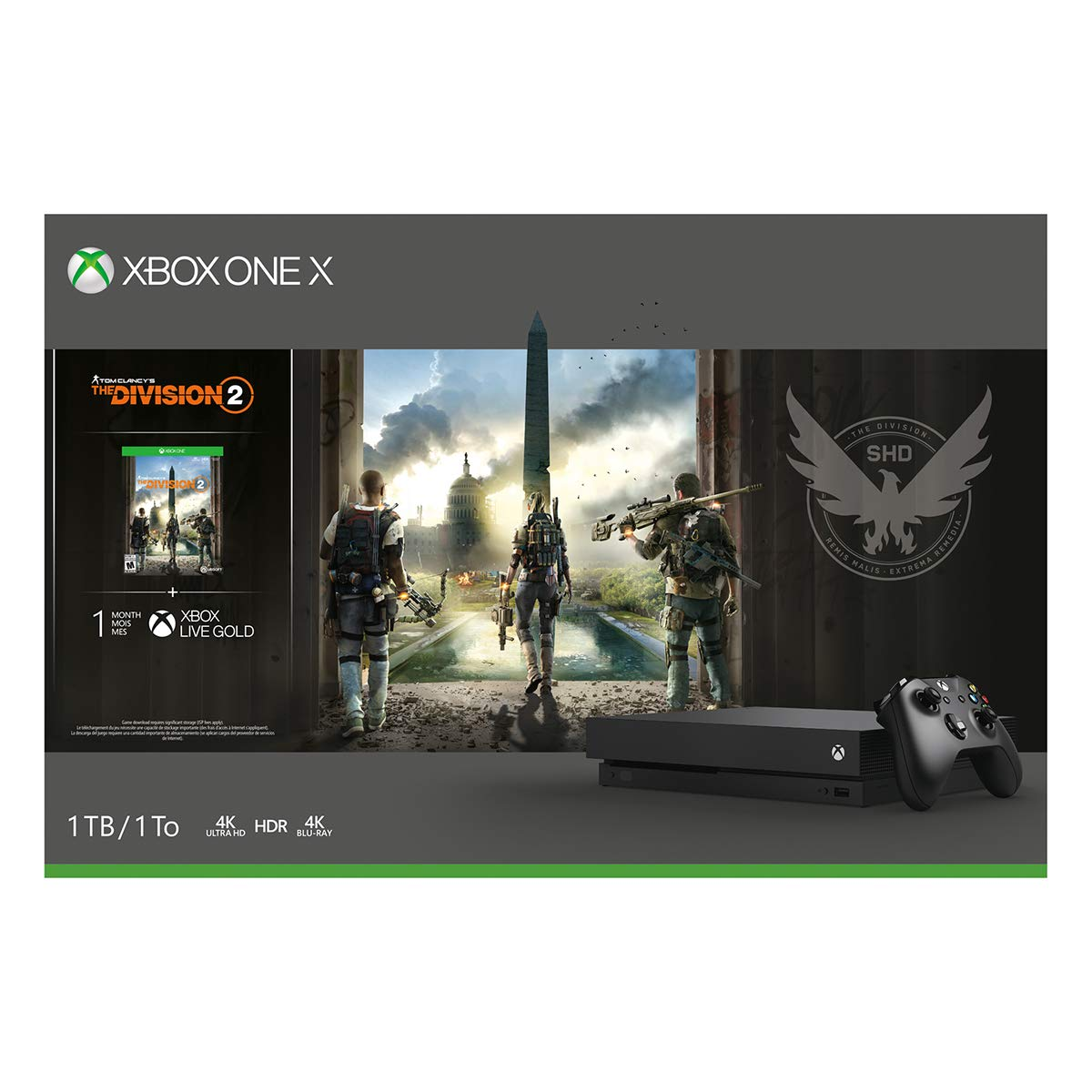 Xbox One X 1TB Console - Tom Clancy's The Division 2 Bundle by Microsoft (Image #4)
