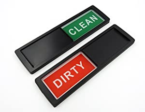 Dishwasher Clean Dirty Magnet Sign Indicator in Black for All Dishwashers. Easily Determine If Dishes Inside the Dishwasher Are Clean or Dirty by Home Medley