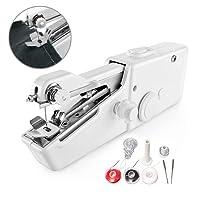 Mini Nähmaschine, Surenhap Micro tragbare Sewing machine Handnähmaschine mit 8 Zubehöre DIY für Stoff Kleidung oder Kinder-Tuch Home Haushalt Reiseanleitung