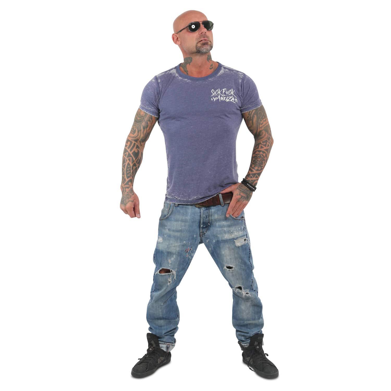 Yakuza Yakuza Yakuza Herren Burnout S&F Crew Neck T-Shirt B07LGC431V T-Shirts Attraktiv und langlebig c34cb6