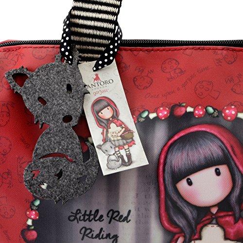 Little Red Hood Hood Red Riding Barrel Riding Red Little Barrel Coated Bag Coated Little Bag FqwEETgC