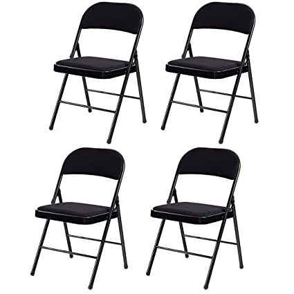 4 Pack Folding Chairs.Amazon Com Giantex 4 Pack Folding Chairs With Metal Frame