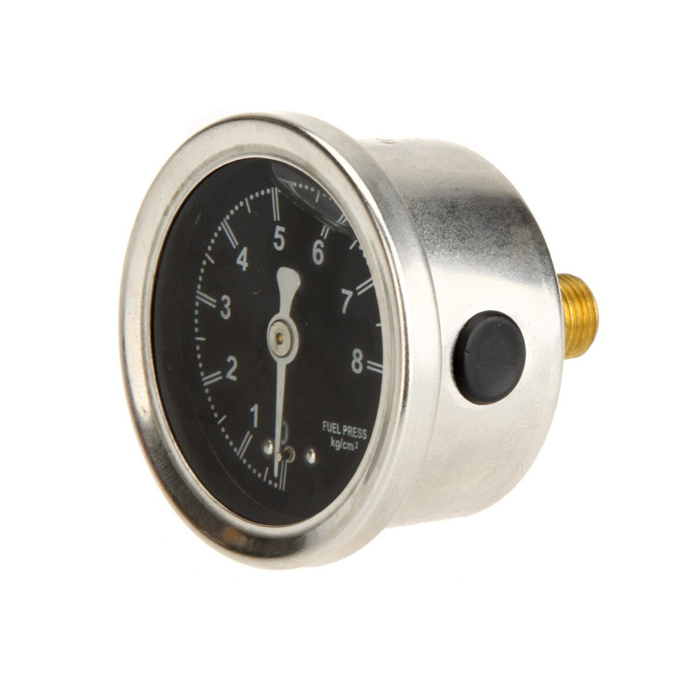 KKmoon Fuel Pressure Regulator High Performance Adjustable Fuel Pressure Regulator with Filled Oil Gauge for Car Auto