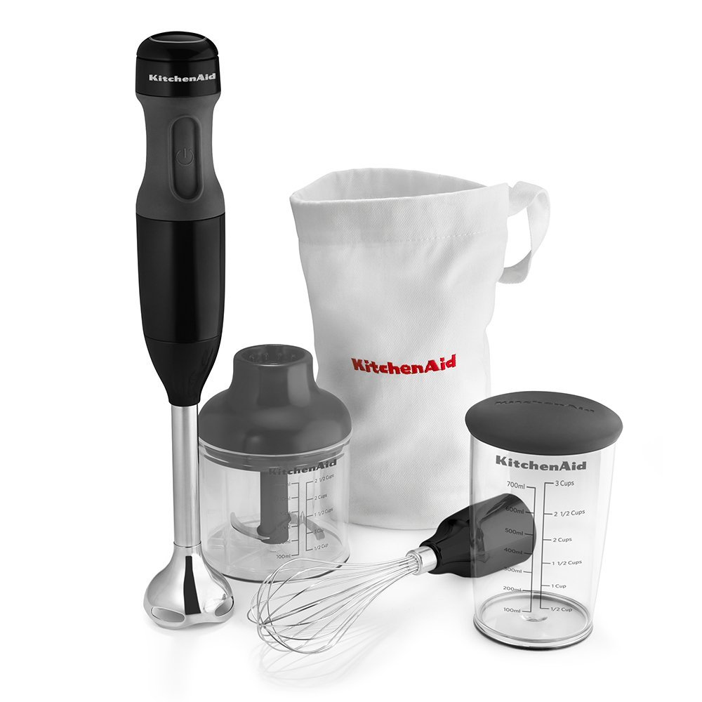 KitchenAid KHB2351OB 3-Speed Hand Blender - Onyx Black (Renewed)