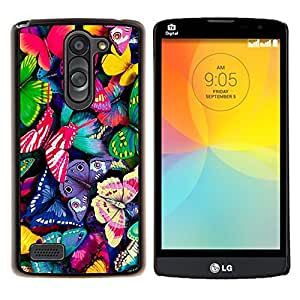 For LG L Bello L Prime D337 - Bright Colourful Butterflies Summer Spring /Modelo de la piel protectora de la cubierta del caso/ - Super Marley Shop -