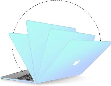 ,Ultra Delgado Pl/ástico Cubierta y Piel de Teclado y Adaptador USB-C a USB 2020//2018 Transparente ASICEN Funda Dura Compatible con MacBook Air 13 Pulgadas A2179 A1932 con Touch ID y Pantalla Retina