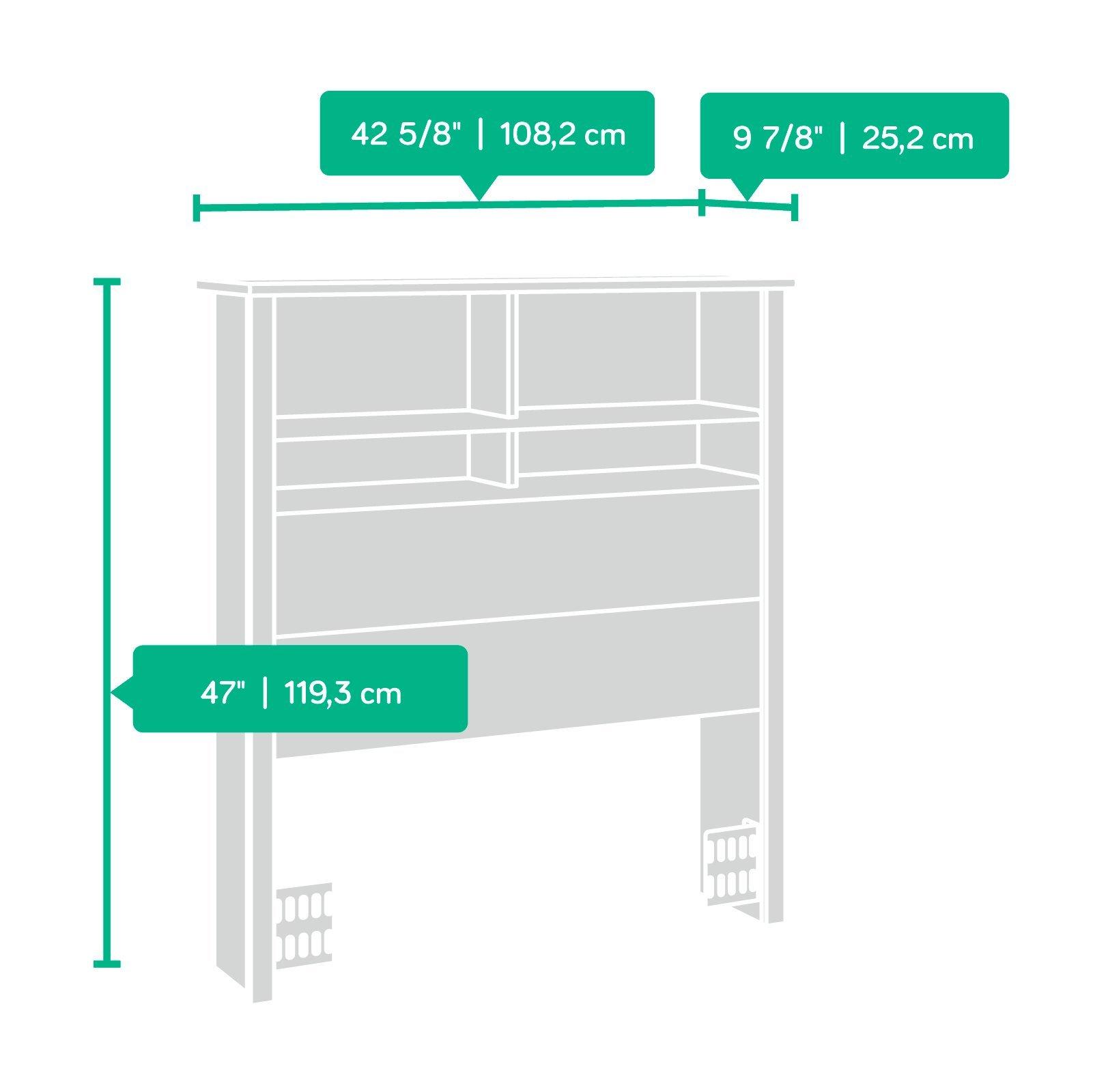 Sauder 418536 County Line Bookcase Headboard, Twin, Soft White