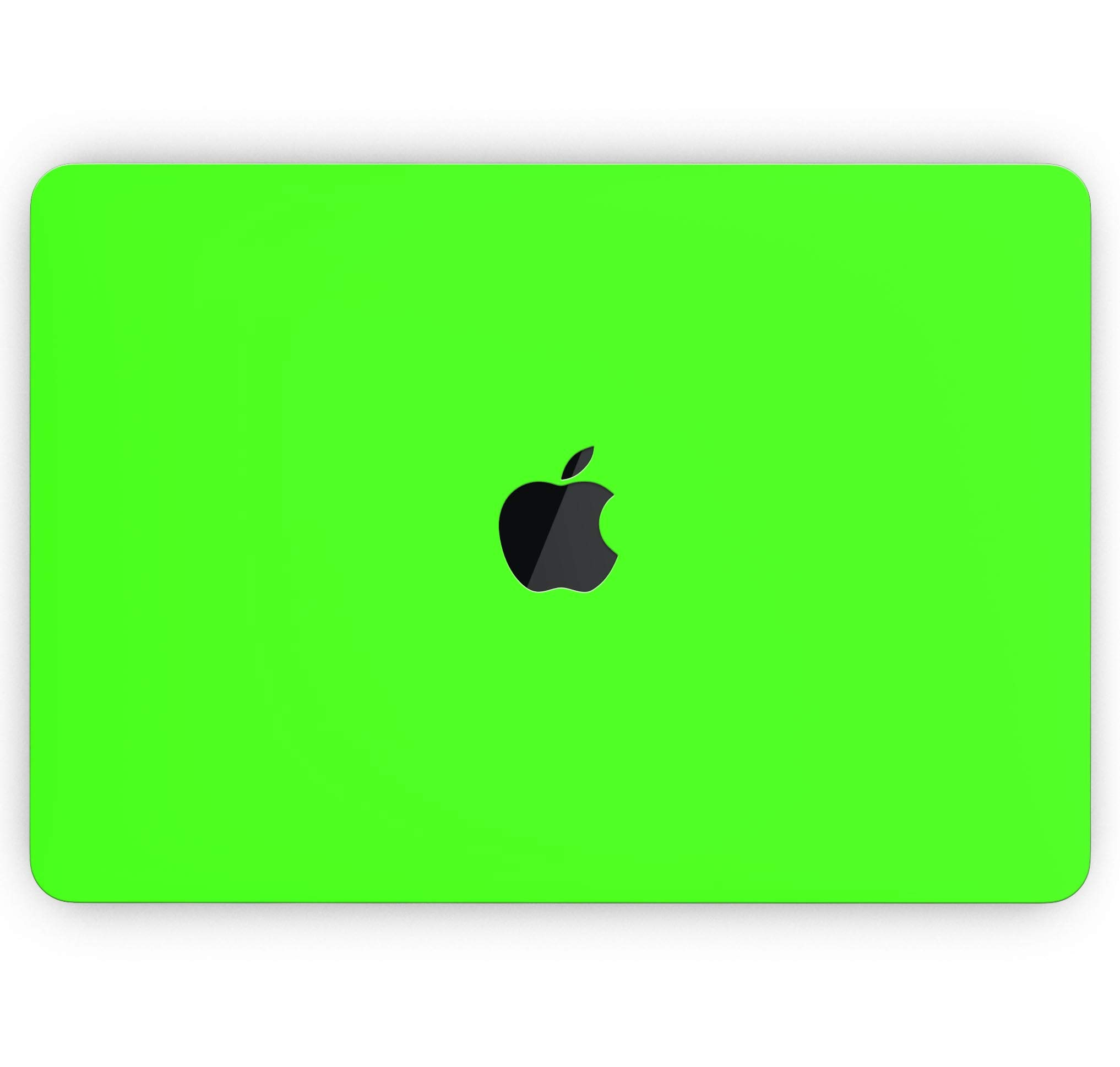 Solid Lime Green V2 - Design Skinz Premium Full-Body Cover Wrap Gloss Finished Decal Skin-Kit for The MacBook Air 13'' (Model A1466/A1369)