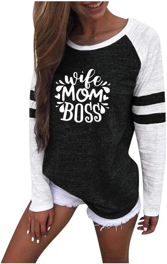 - Standard Women/'s T-Shirt Boss Mum Wife