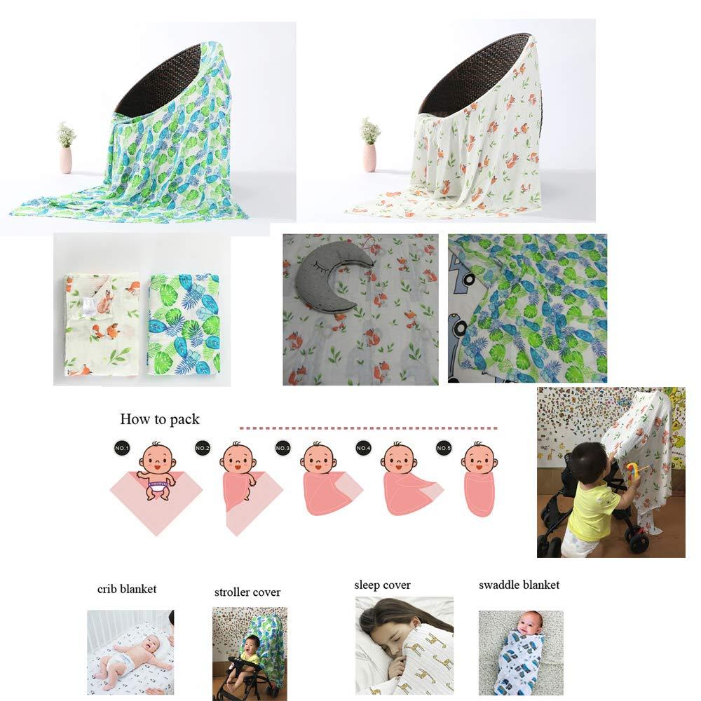 Amazon.com: Manta de bebé de algodón muselina bebé recibir ...