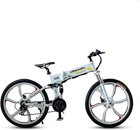 Z&S Bicicleta eléctrica de montaña Plegable de 26 Pulgadas, 36V ...